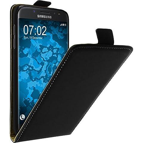 Couverture en cuir artificiel pour Samsung Galaxy J5 2017 - Flip-Case noir - Cover PhoneNatic Cubierta + films de protection