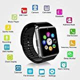 Murieo Bluetooth Smart Watch, Fitness Wasserdichtes Armband für Android/iOS,Wasserdicht Smart Uhr Sport Smart Watch Bluetooth Uhr Handy Intelligente Armbanduhr für Herren Damen (Schwarz)