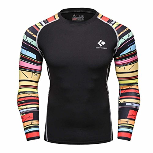 Men's Long Sleeves Base Layer Weight Lifting Tee Shirts style 7