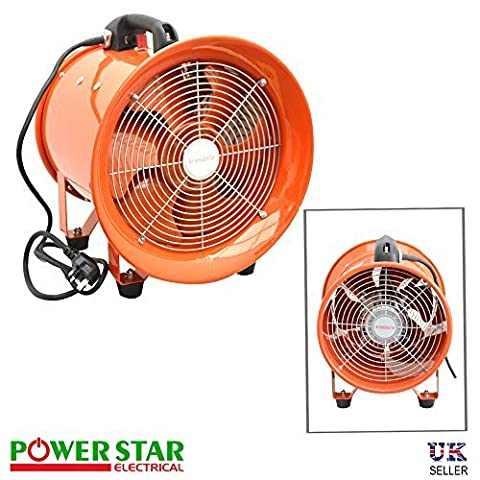 Powerful Portable Ventilation Dust Fume Extractor Air Axial Metal Blower Workshop Heavy Duty Commercial Fan 12