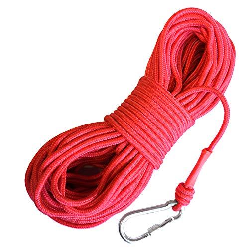 LeBigMag | Outdoor Seil ø 6 mm | 30 m | extrem reißfest bis 500 kg | mit Schraubkarabiner | Nicht als Kletterseil verwendbar (30 Seil M)