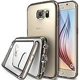 Galaxy S6 Coque - Ringke FUSION ***Tous les Nouveaux Capuchon Anti-Poussière & Chute Protection*** [Gratuit Protecteur D'écran][SMOKE BLACK] Crystal Clair Panneau de Dos Absorption des Chocs Pare-Chocs dur Étui pour Samsung Galaxy S6 - Eco/DIY Paquete
