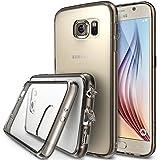 Galaxy S6 Coque - Ringke FUSION ***Tous les Nouveaux Capuchon Anti-Poussière & Chute Protection*** [Gratuit Protecteur D'écran][SMOKE BLACK] Absorption des Chocs Pare-Chocs dur Étui pour Samsung Galaxy S6 - Eco/DIY Paquete