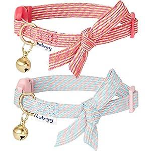 Wir sind von unseren traditionellen gestreiften Halsbändern abgeweicht und bringen Ihnen nun unsere erste Kollektion von diagonal akzentuierten Katzenhalsbändern - in kunstvollen Diagonalstreifen, einzigartigen Farben und feinem Stoff. Dieser Sparpac...
