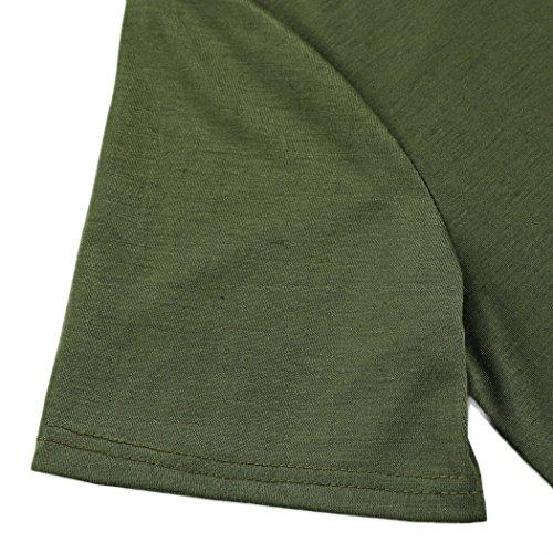 Aulei Herren Casual Polo Shirt Tops T-shirt Hemd Oberteil Kurzarmshirt Schwarz