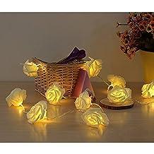 Lerway 2.2M LED Rose Fata Fiore Flessibile 20 Rosa Luci Stringa per Giardini, Prato, Patio, Alberi di Natale, Matrimoni, Feste, Bar, Club, Piscina Coperta e la Decorazione Esterna