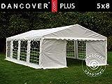 Dancover Tente de réception Plus 5x8m PE, Blanc