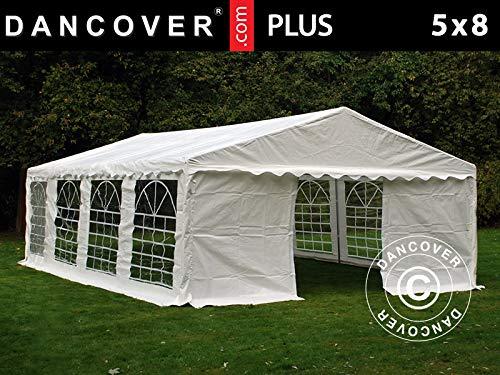 Dancover Partyzelt Pavillon Festzelt Plus 5x8m PE, Weiß