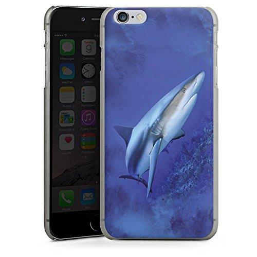 Apple iPhone X Silikon Hülle Case Schutzhülle Raubfisch Hai Weißer Hai Hard Case anthrazit-klar