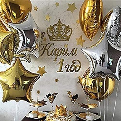 PuTwo globos de helio decoración de fiestas cumpleaños boda 18 pulgadas 32 piezas/set - Etoiles y puntos