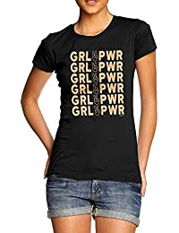 TWISTED ENVY GRL PWR Girl Power Women's Novelty Cotton T-Shirt