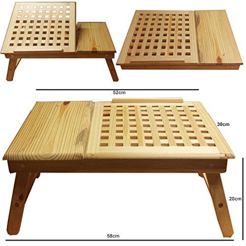Legno massello Tavolo NOTEBOOK pieghevole, regolabile in