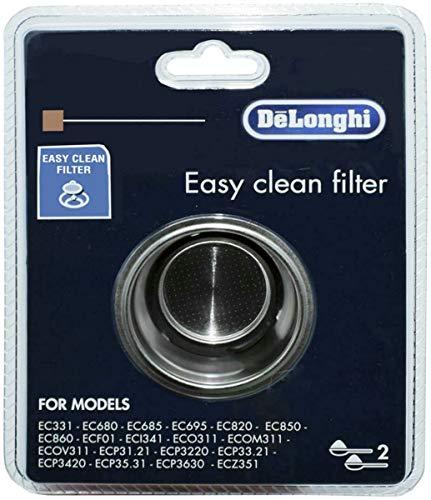 Delonghi filtro 2 tazze macchina caffè Distinta Dedica Icona ECO311 Scultura EC8