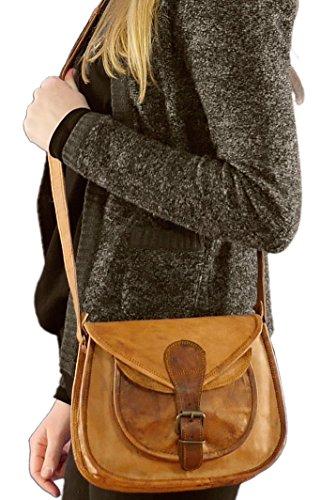 """Gusti Leder nature """"Juliette"""" Handtasche Ledertasche Damenledertasche Damentasche Umhängetasche Vintage Ledertasche Freizeit Tasche Shoppingtasche Retro Style Abendtasche Party Klein Braun K55b"""