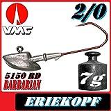 VMC Jigkopfhaken Jigkopf Eriekopf 2/0 7g Jighaken VMC Barbarian 5150 RD 5Stück im Set