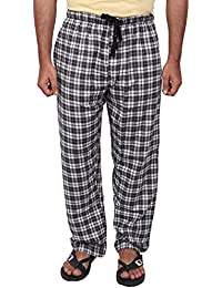 Twist Men's Black And Grey And White Checked Cotton Pyjama Sleepwear Night Wear With Contrast & Free Shipping
