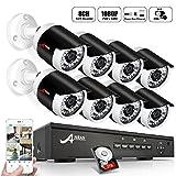 ANRAN 8CH 1080p POE NVR System mit 8PCS 1080P Surveillance IP Netzwerk Sicherheit Kamera Outdoor mit 2TB Festplatte IR Nachtsicht, Bewegungserkennung und Fernzugriff