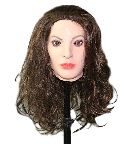 stische Weibliche Masken Halloween Weihnachtsmasken Gesicht Cosplay Männlich zu Weiblich für Crossdresser Transgender Shemale (Weiblich Halloween Maske)
