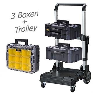STANLEY FATMAX TSTAK Box III + Box IV + Box V plus Trolly