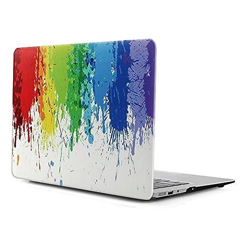 iDOO MacBook Schutzhülle / Hard Case Cover Laptop Hülle [Für MacBook Air 13 Zoll: A1369/A1466] (Custodia Protettiva In Gomma)