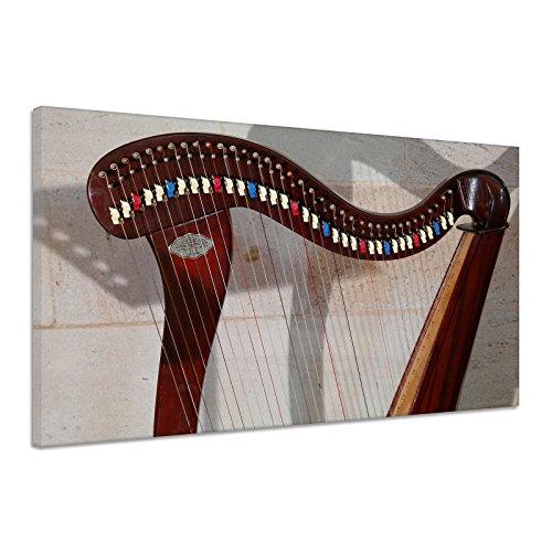 Harfe Zupfinstrument Musik Saiteninstrument Leinwand Poster Bild Druck aa1828 120x90