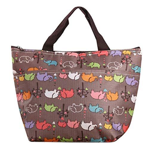 rdichte Und Praktische Kleine Tragbare EIS Pack Farbe Lunchbag braun ()