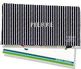 Porte-chéquier portefeuille personnalisé homme Motif cordelettes blanches fond bleu marine P2133-2015