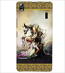 PrintDhaba Beauty and the Beast D-2526 Back Case Cover for LENOVO A7000 (Multi-Coloured)