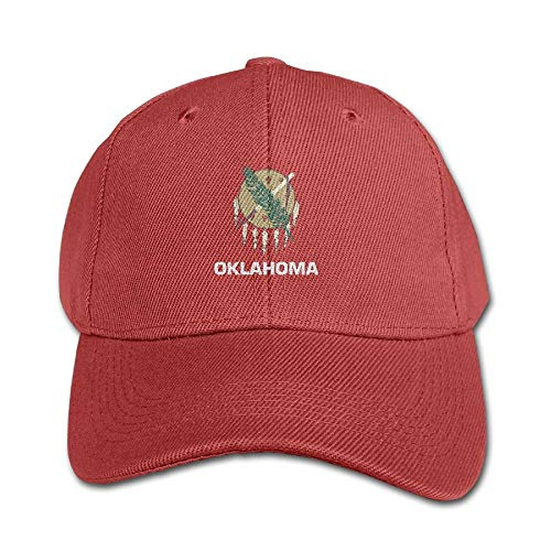 Oklahoma Flag Pure Color Baseball Cap Cotton Adjustable Kid Boys Girls Hat Plaid Hat Earflap