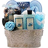 Art of Appreciation Gift Baskets Ocean Mists Renewal Spa Relaxing Bath and Body Gift Set, Medium, Blue/White by Art of Appreciation Gift Baskets