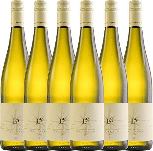 6er Paket - Tagtraum 2017 - Ellermann-Spiegel   halbtrockener Weißwein   deutscher Sommerwein aus der Pfalz   6 x 0,75 Liter