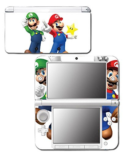 New Super Mario Bros 3D Land World 2 Luigi Star Video Game Vinyl Decal Skin Sticker Cover for Original Nintendo 3DS XL System by Vinyl Skin - Mario Bros 3ds Super Xl Nintendo