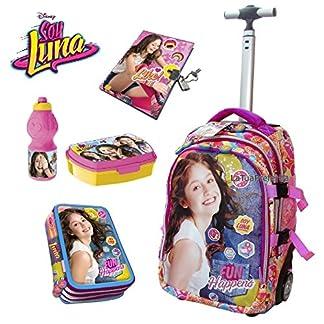 51leMqgJIdL. SS324  - SOY LUNA Juego de Mochila carrito 45 cm Escuela Estuche triple Pack merenda Diario para niña