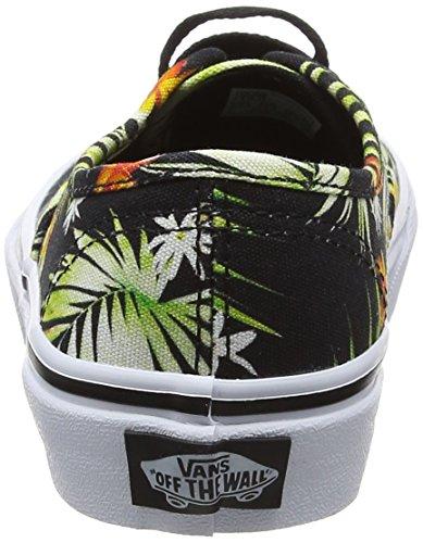 Vans Uy Authentic, Baskets Basses Garçon Noir (Decay Palms Black/true White)