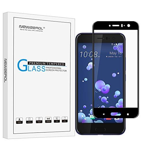 Newzerol HTC U11/U 11/HTC Ocean [copertura completa] [Edge to edge] 3D vetro temperato ad alta definizione [Garanzia di sostituzione a vita]-nero Edge