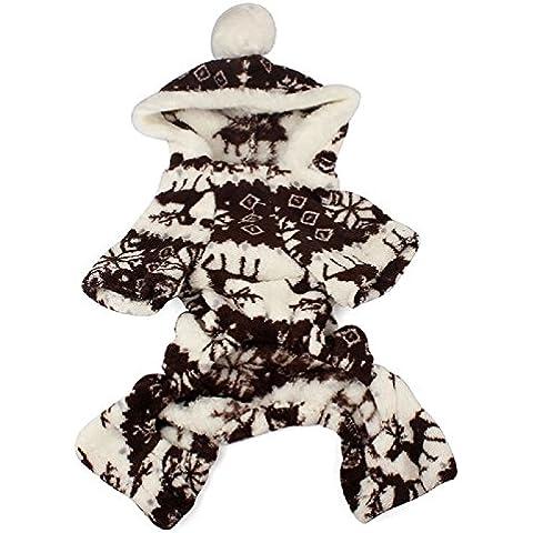 Toraway Perro Mascota Ropa Caliente La Capa Para El Perrito De La ImpresióN De Navidad Ciervos SuéTer Con Capucha (XX-large,