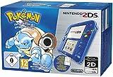 Console Nintendo 2DS - transparente bleue + Pokémon bleu pré-installé