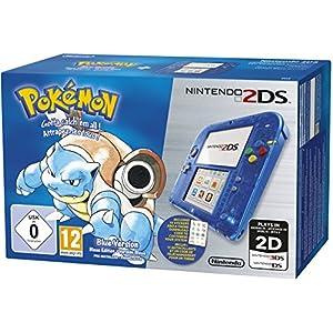 Nintendo 2DS – Konsole (Blau Transparent) inkl. Pokémon Blaue Edition