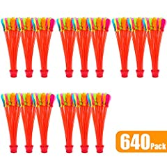 Idea Regalo - 640 pacco Gavettoni Autosigillante Riempimento Palloncini d'acqua facile e veloce Bombe d'acqua Estate Splash Fun Gioco di combattimento d'acqua per bambini e adulti(640 pacco 5 borsa)