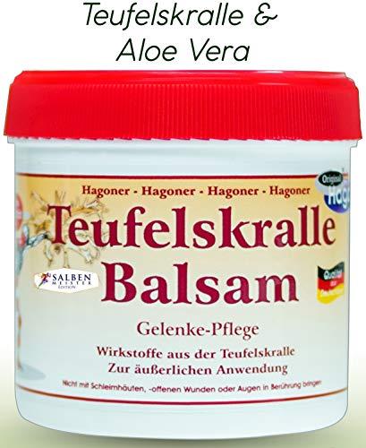 Teufelskralle-Balsam mit Aloe-Vera-Gel | Teufelskrallen-Creme | Teufelskralle-Schmerz-Salbe bei Verspannungen, Rheuma und Arthrose | Schmerz-Gel Durchblutungsfördernd | Salben Meister