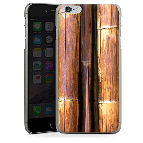 Apple iPhone X Silikon Hülle Case Schutzhülle Bambus Bambusrohr Braun Hard Case anthrazit-klar