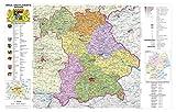 Bayern politisch mit Postleitzahlen