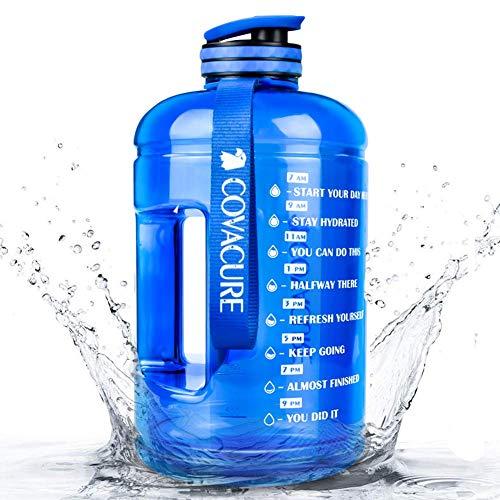 COVACURE Trinkflasche Sport - 2.2L Wasserflasche, Groß Sportflasche, BPA Frei, Auslaufsicher, für Fitness, Gym, Heim, Büro, Outdoor