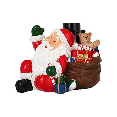 AUTOUR DE MINUIT Um Mitternacht 5pds012Fuß von Weihnachtsbaum Kunstharz Weihnachtsmann Kunstharz bunt 20x 19x 20cm