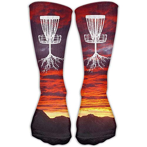 (hutaz Disc Golf Tree Roots Best High Performance Athletic Running Casual Socks For Men & Women)