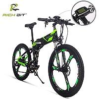 RICHIBIT Bicicleta de montaña Plegable eléctrica FS-860 36V 250W Motor 12.8Ah Batería de