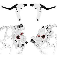 NV-5 G3 / HS1 Kit de freno de disco de bicicleta Front + Rotor trasero (NV-5 HS1 Kit blanco con mango)