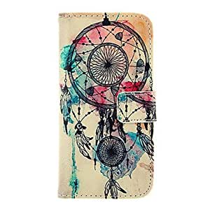 QYJB Dreamcatcher Pattern TPU Back Cover PU Full Body Case with Stand and Card Slots for iPhone 6