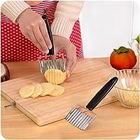 Chip pasta Verdura Carota lama della patata piega ondulata Cutter affettatrice in acciaio da cucina Accessori Strumenti