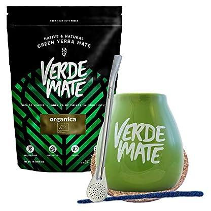 Verde-Mate-Tee-Set-Verde-Mate-Organica-500g-Keramik-Kalebasse-Matebecher-Bombilla-Bio-Organisch-Yerba-Mate-Set